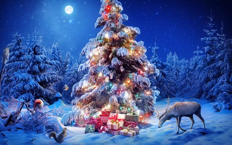 Желаем вам новогоднего настроения в праздники!